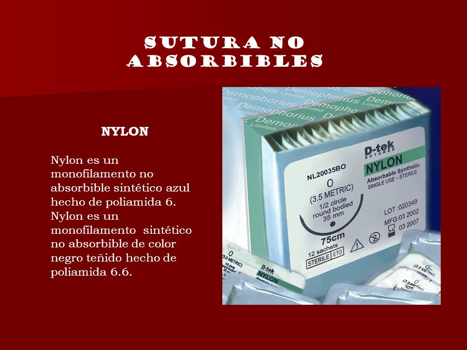 SUTURA NO ABSORBIBLES NYLON