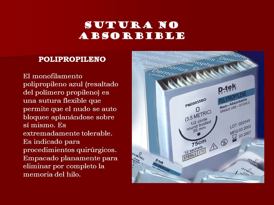 SUTURA NO ABSORBIBLE POLIPROPILENO