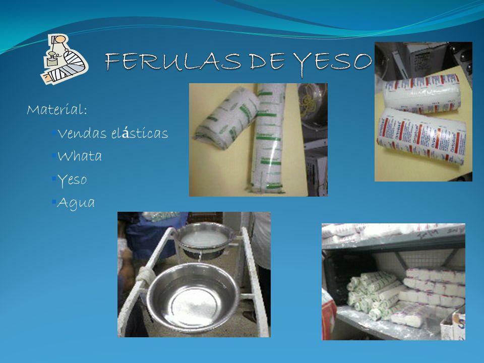 Material: Vendas elásticas Whata Yeso Agua