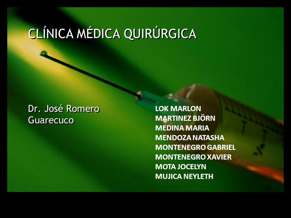 Dr. José Romero Guarecuco