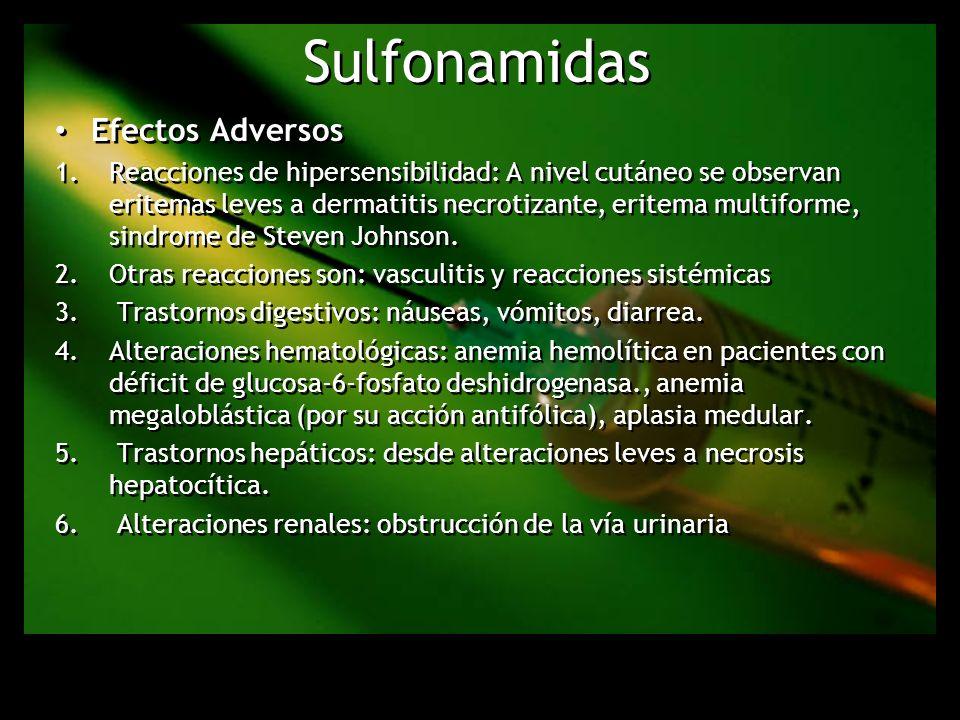 Sulfonamidas Efectos Adversos