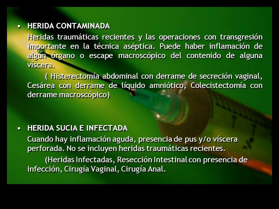 Herida contaminada