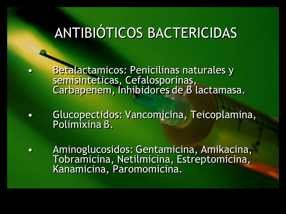 Antibióticos Bactericidas