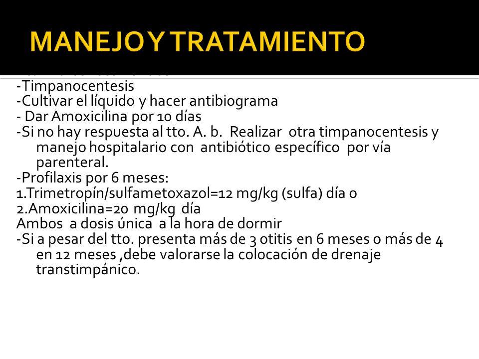 MANEJO Y TRATAMIENTO