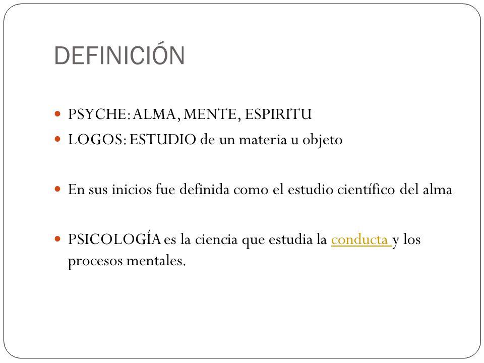 DEFINICIÓN PSYCHE: ALMA, MENTE, ESPIRITU