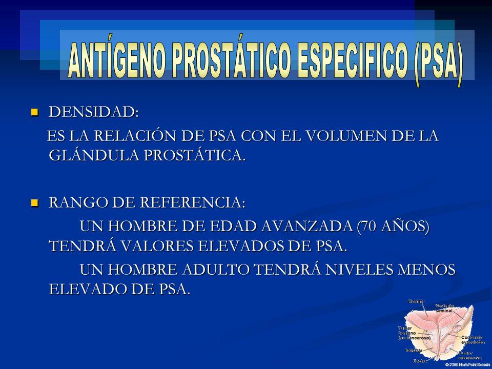 ANTÍGENO PROSTÁTICO ESPECIFICO (PSA)