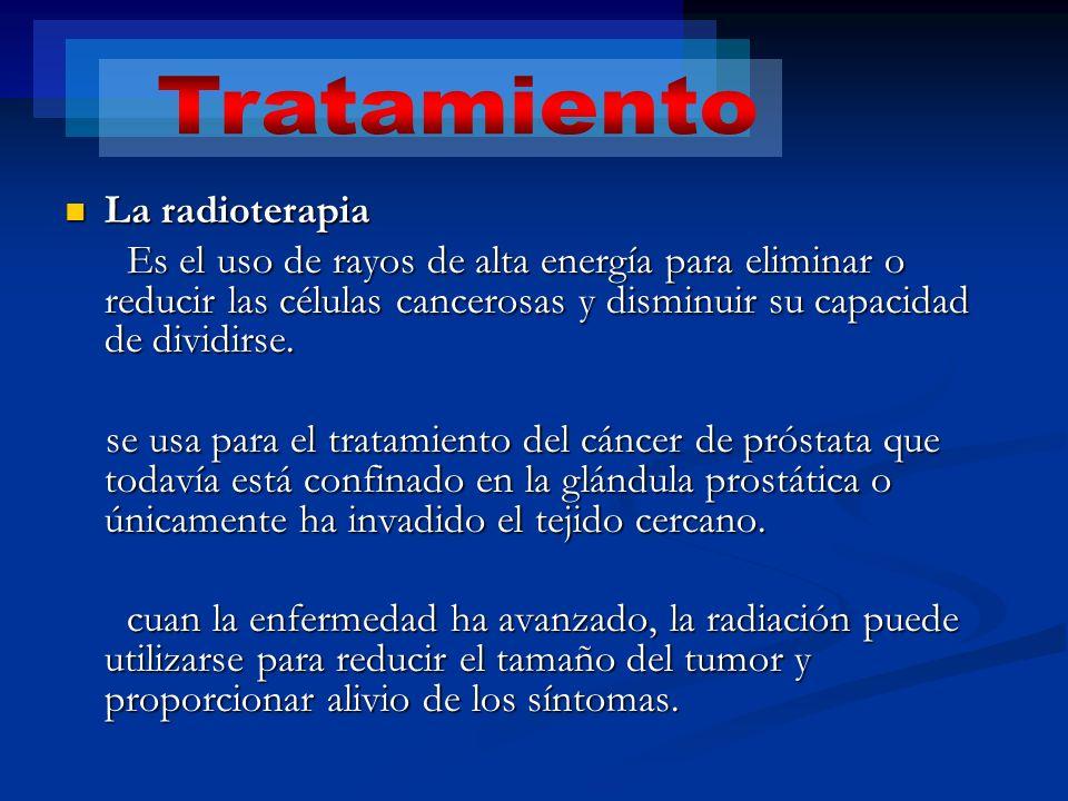 Tratamiento La radioterapia