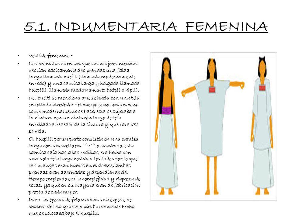 5.1. INDUMENTARIA FEMENINA