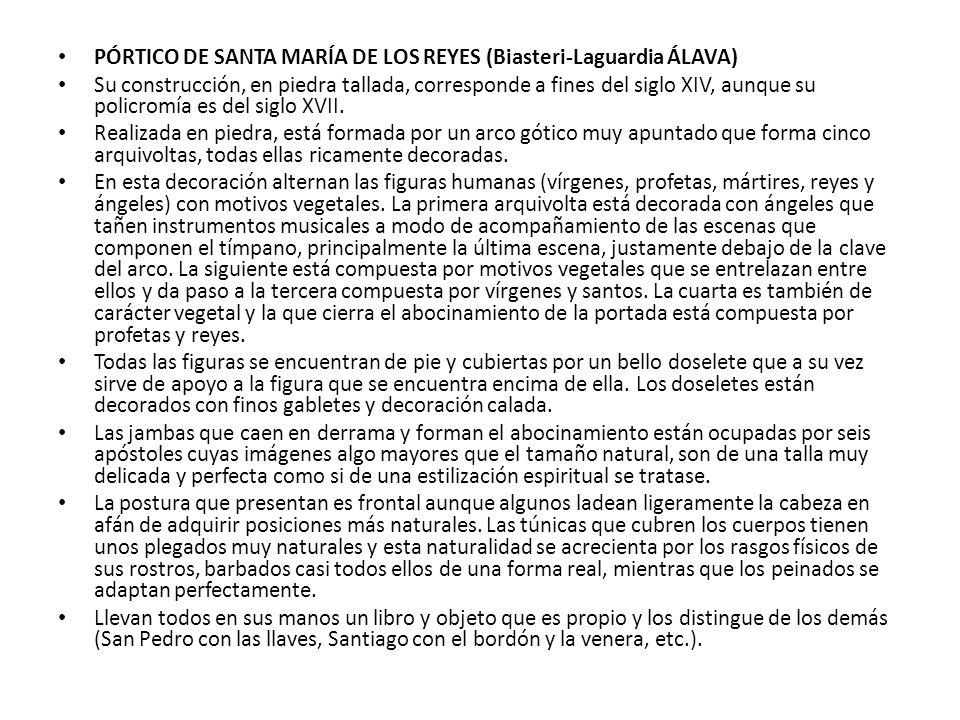 PÓRTICO DE SANTA MARÍA DE LOS REYES (Biasteri-Laguardia ÁLAVA)