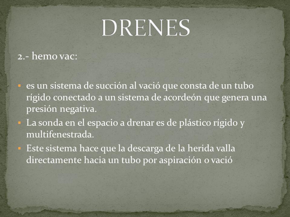 DRENES 2.- hemo vac:
