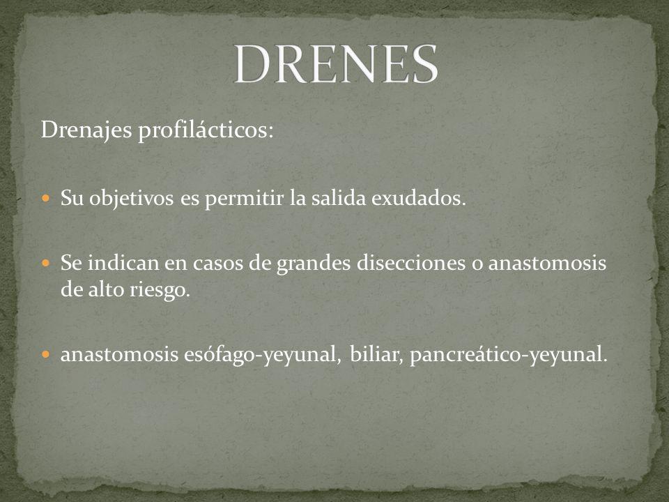 DRENES Drenajes profilácticos: