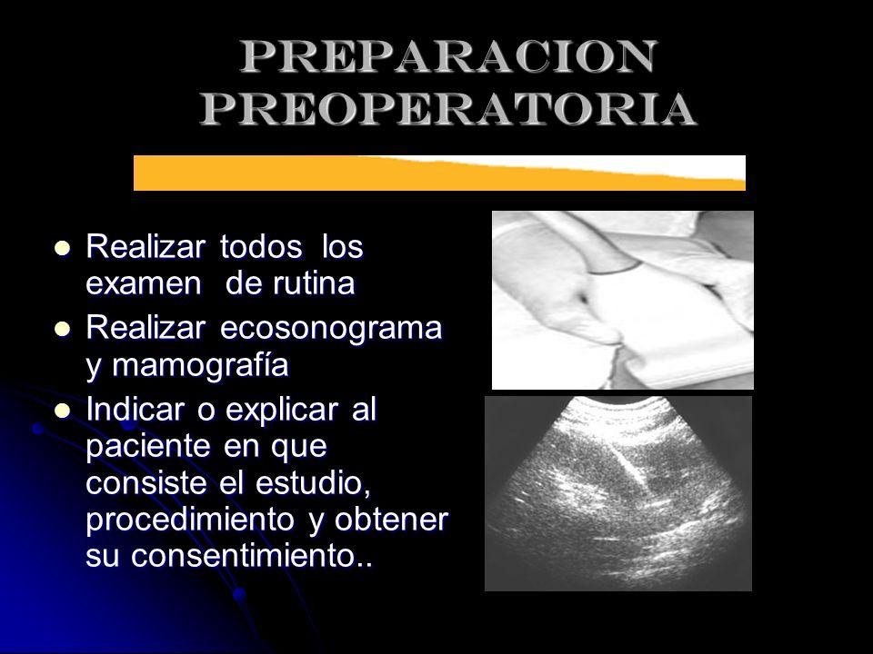 PREPARACION PREOPERATORIA