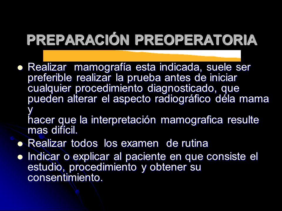 PREPARACIÓN PREOPERATORIA