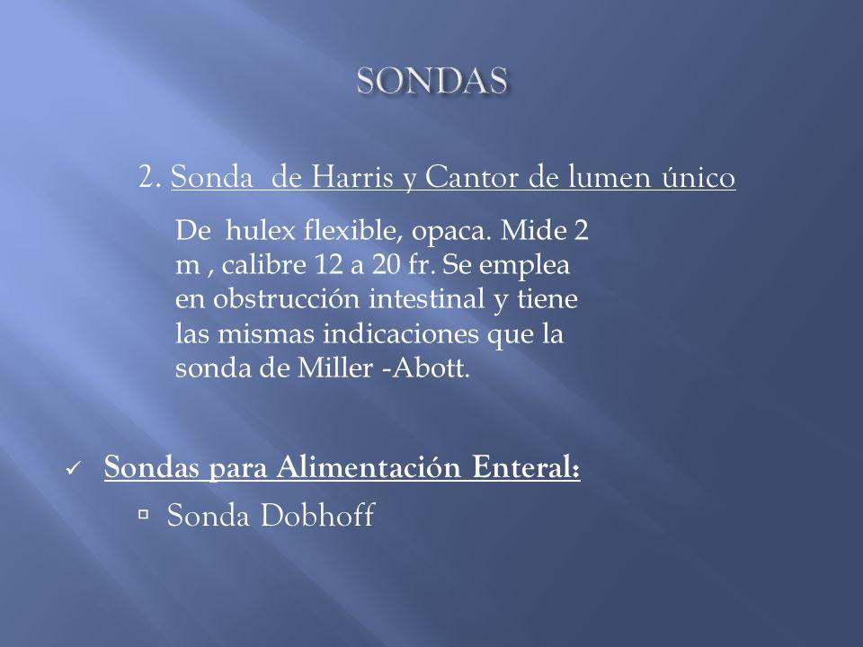 SONDAS 2. Sonda de Harris y Cantor de lumen único