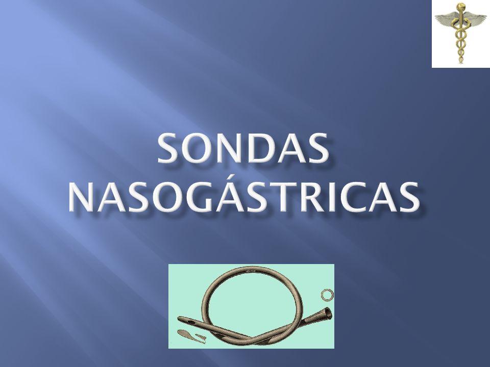 SONDAS NASOGÁSTRICAS