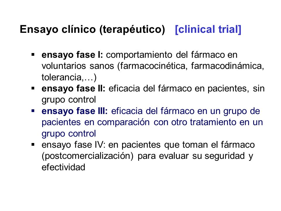 Ensayo clínico (terapéutico) [clinical trial]