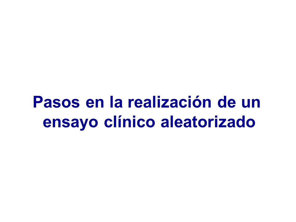 Pasos en la realización de un ensayo clínico aleatorizado