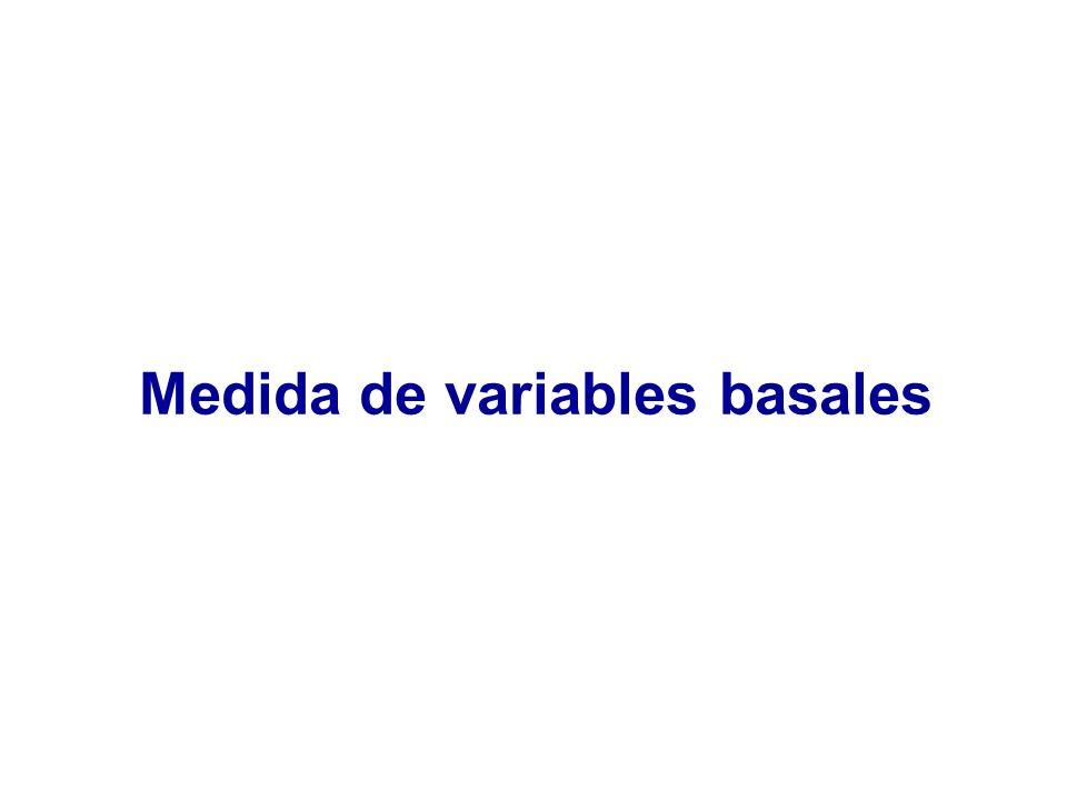Medida de variables basales
