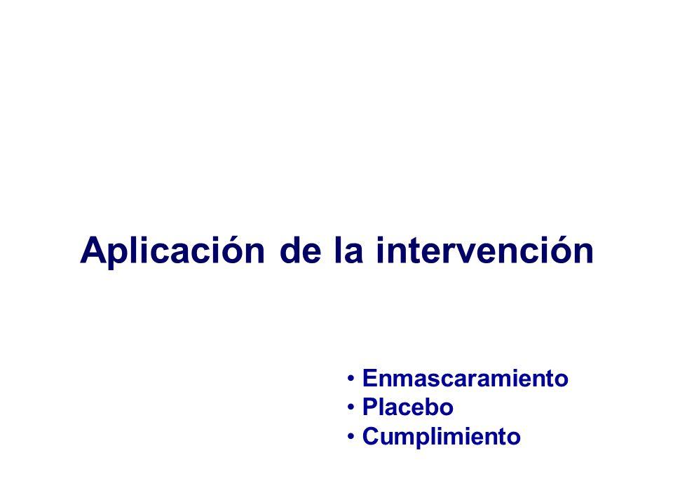 Aplicación de la intervención
