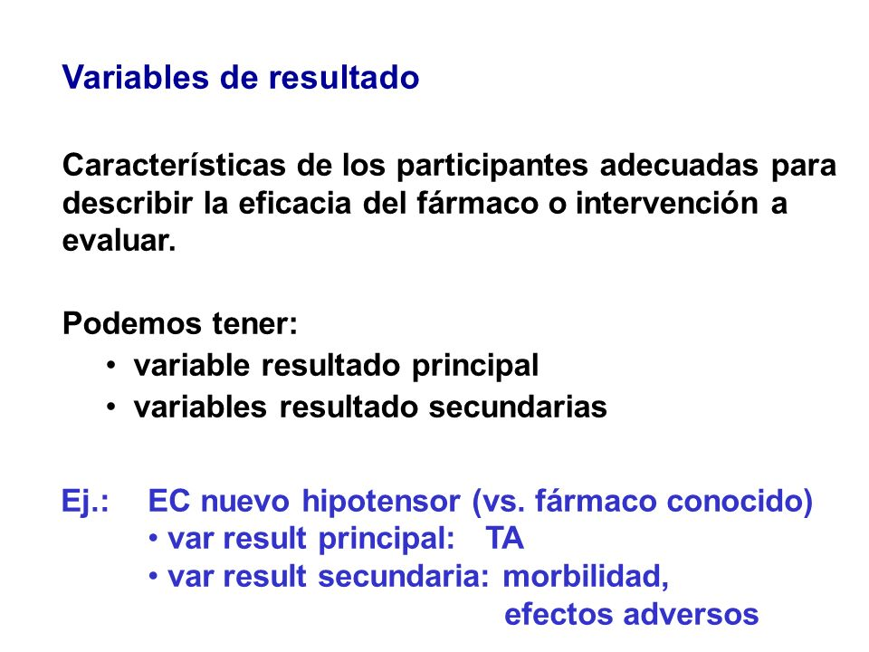 Variables de resultado