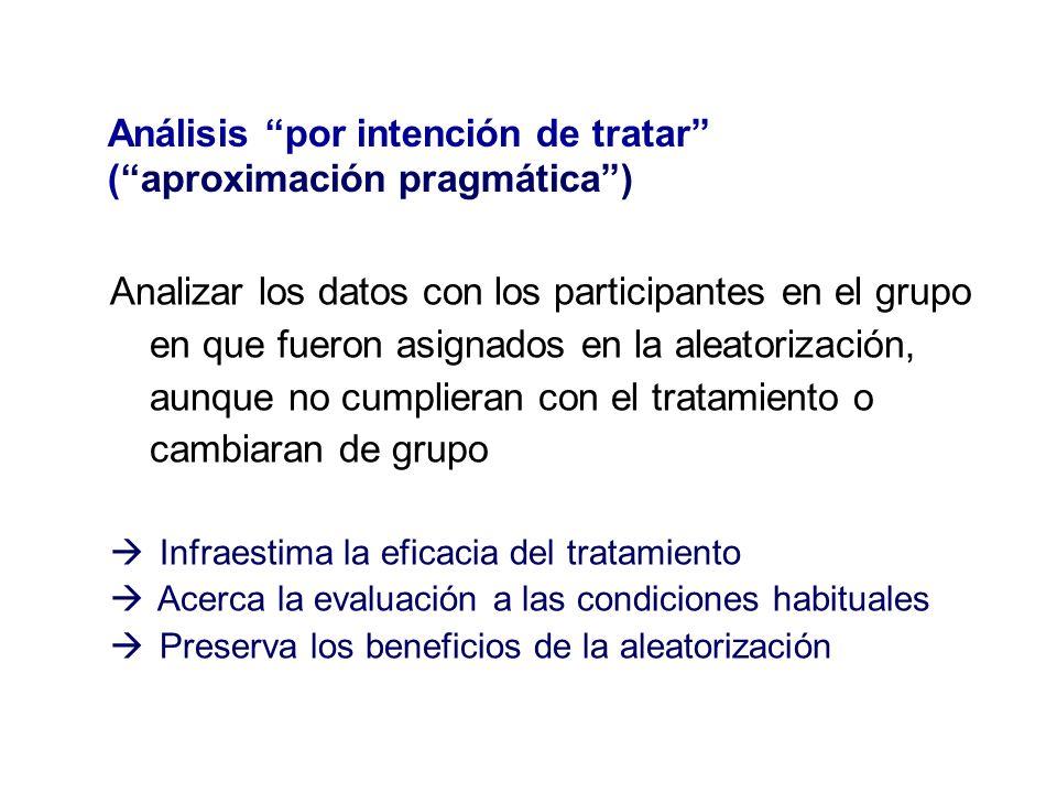 Análisis por intención de tratar ( aproximación pragmática )