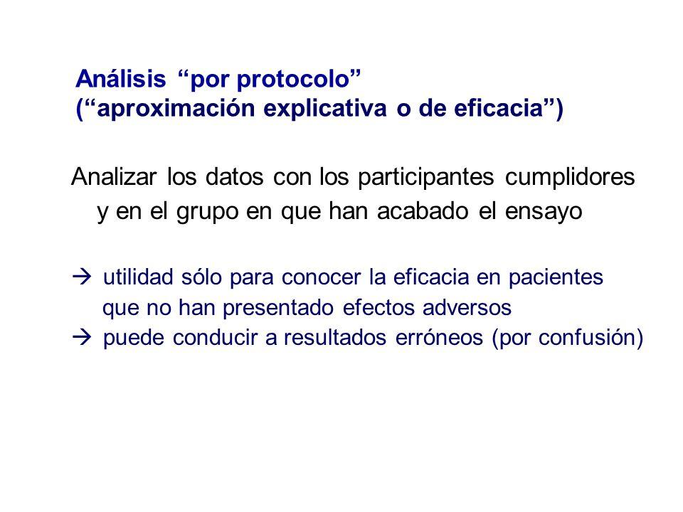 Análisis por protocolo ( aproximación explicativa o de eficacia )