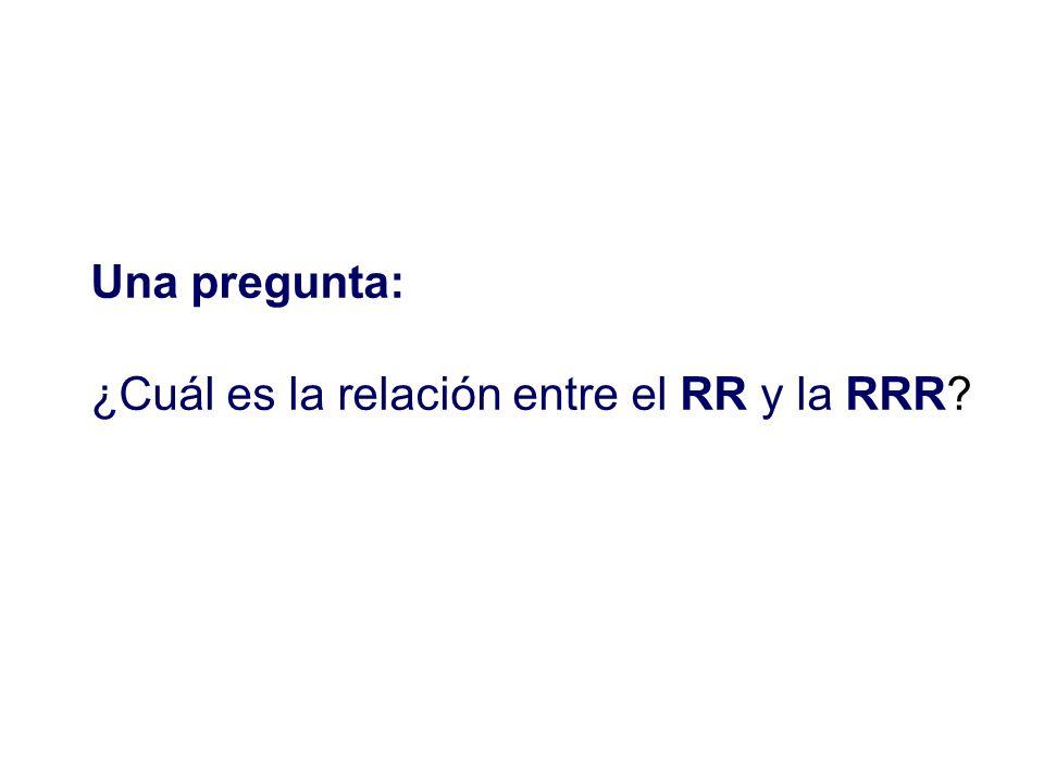 Una pregunta: ¿Cuál es la relación entre el RR y la RRR