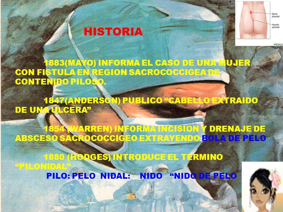 HISTORIA 1883(MAYO) INFORMA EL CASO DE UNA MUJER