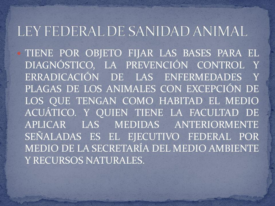 LEY FEDERAL DE SANIDAD ANIMAL