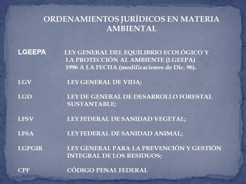 ORDENAMIENTOS JURÍDICOS EN MATERIA