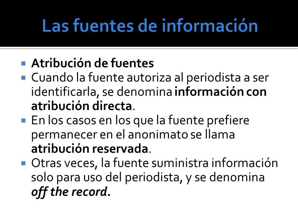 Las fuentes de información