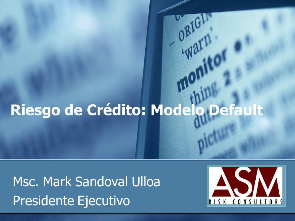 Riesgo de Crédito: Modelo Default
