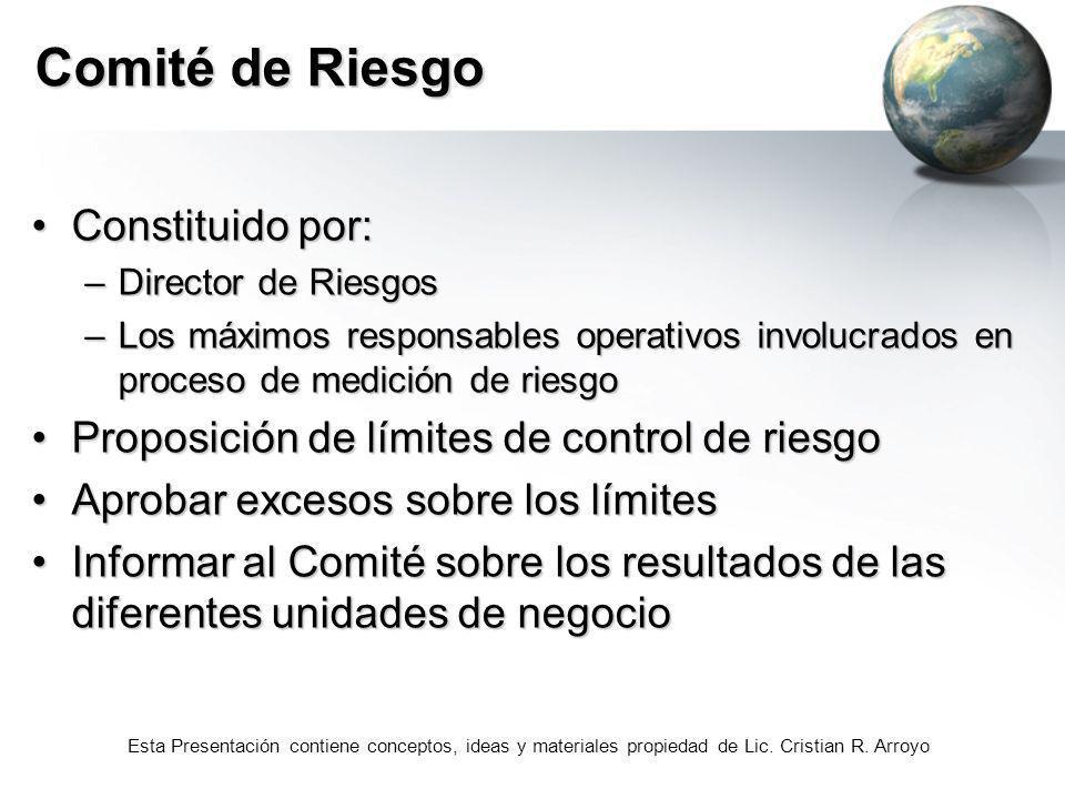 Comité de Riesgo Constituido por: