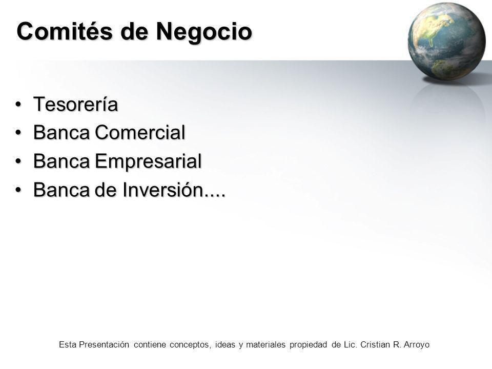 Comités de Negocio Tesorería Banca Comercial Banca Empresarial