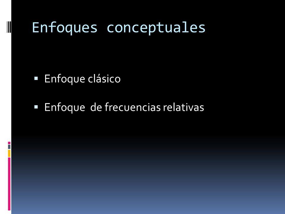 Enfoques conceptuales