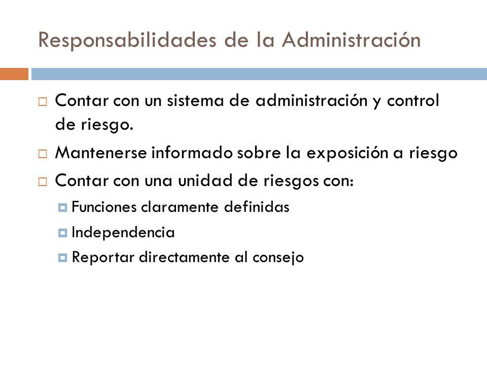 Responsabilidades de la Administración