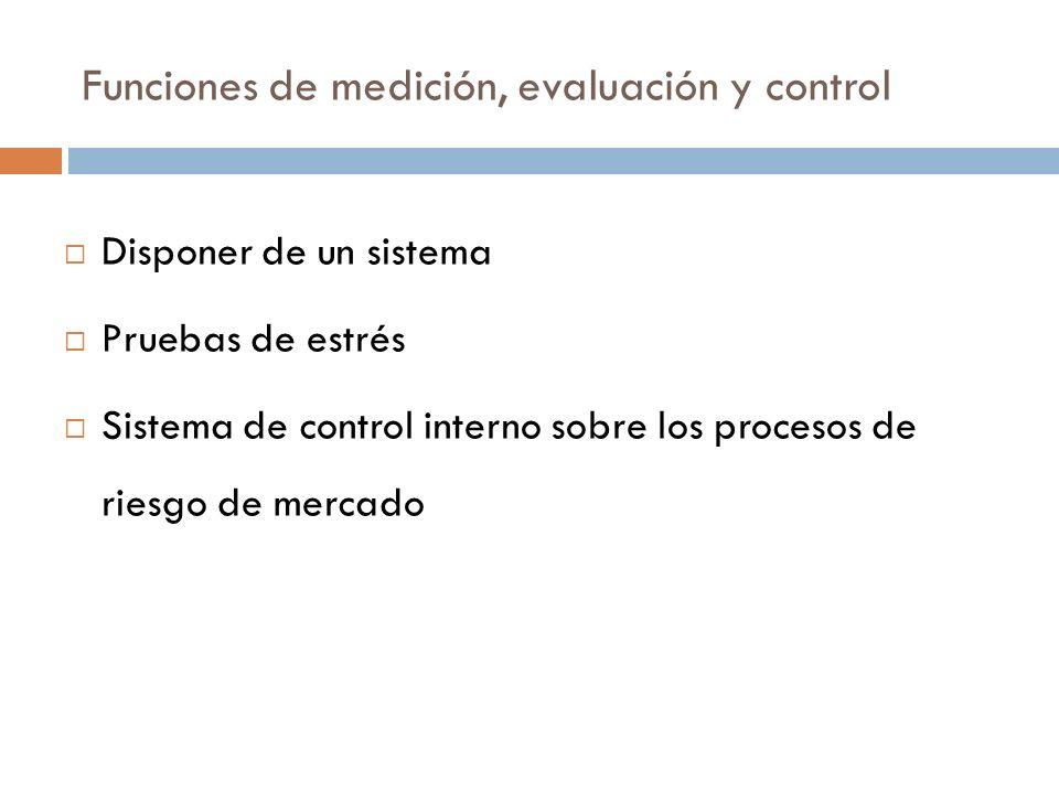 Funciones de medición, evaluación y control