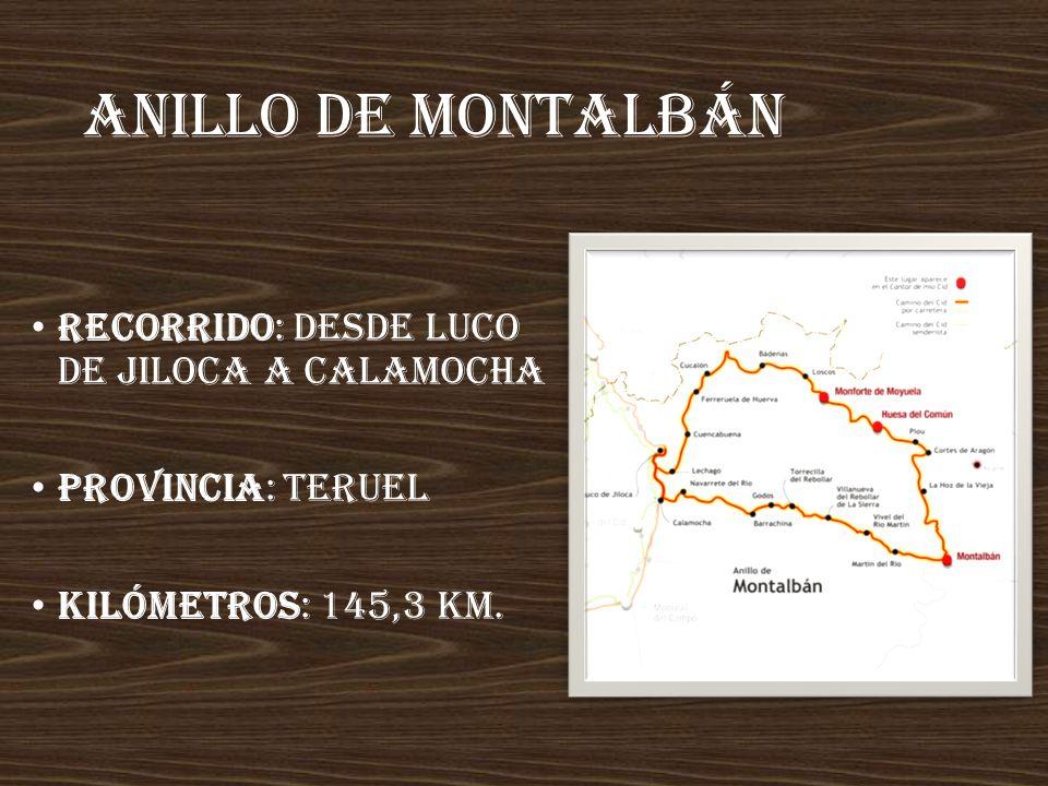 Anillo de montalbán Recorrido: desde Luco de Jiloca a Calamocha
