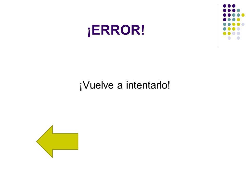 ¡ERROR! ¡Vuelve a intentarlo!