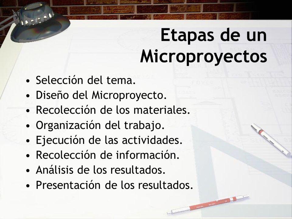 Etapas de un Microproyectos