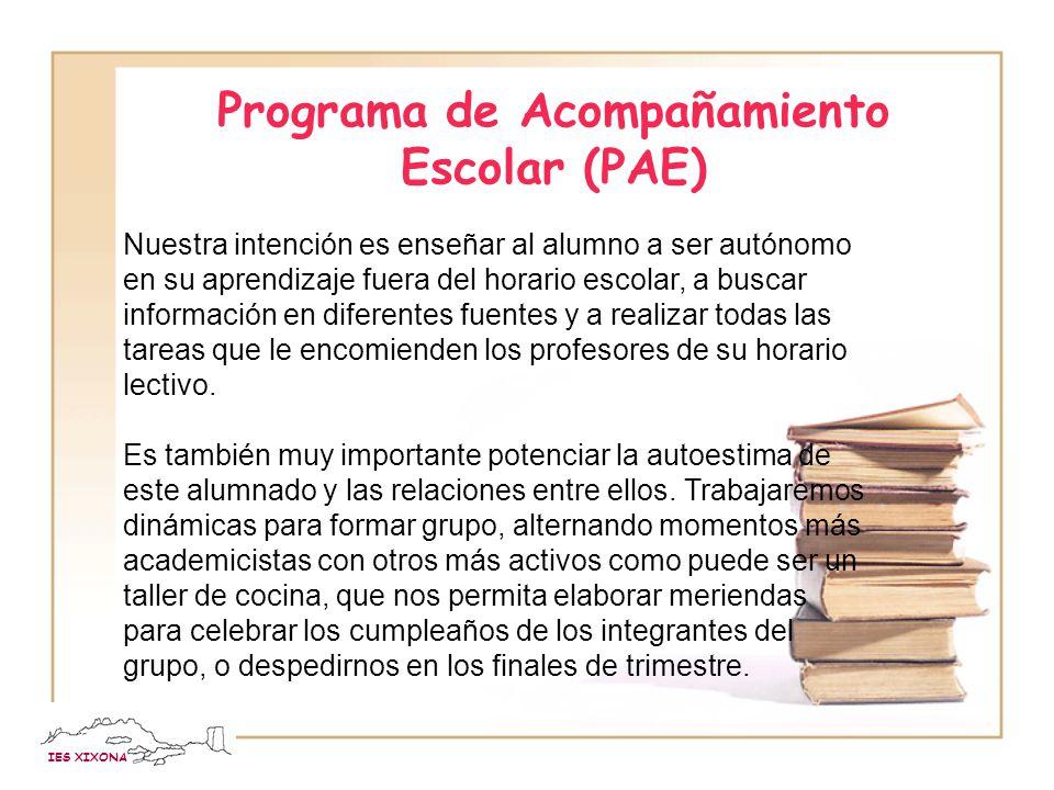 Programa de Acompañamiento Escolar (PAE)