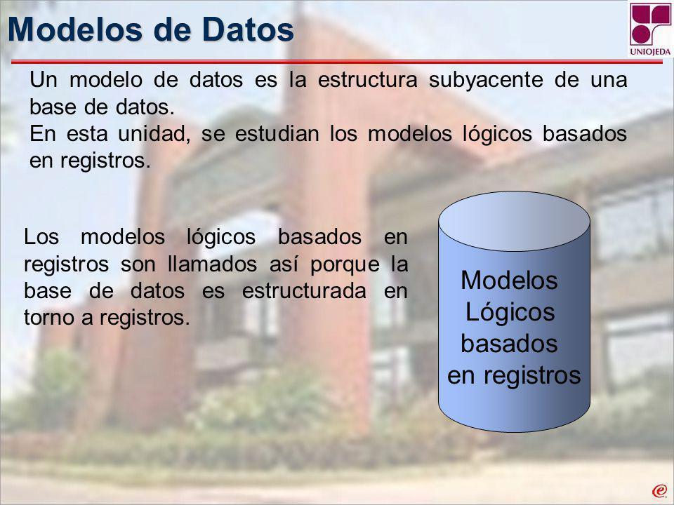 Modelos de Datos Modelos Lógicos basados en registros