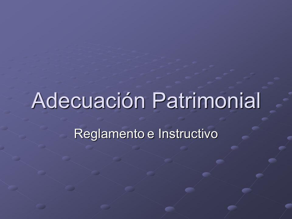Adecuación Patrimonial