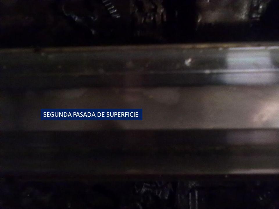 SEGUNDA PASADA DE SUPERFICIE