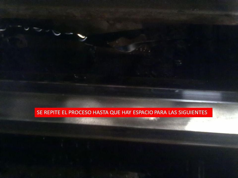 SE REPITE EL PROCESO HASTA QUE HAY ESPACIO PARA LAS SIGUIENTES