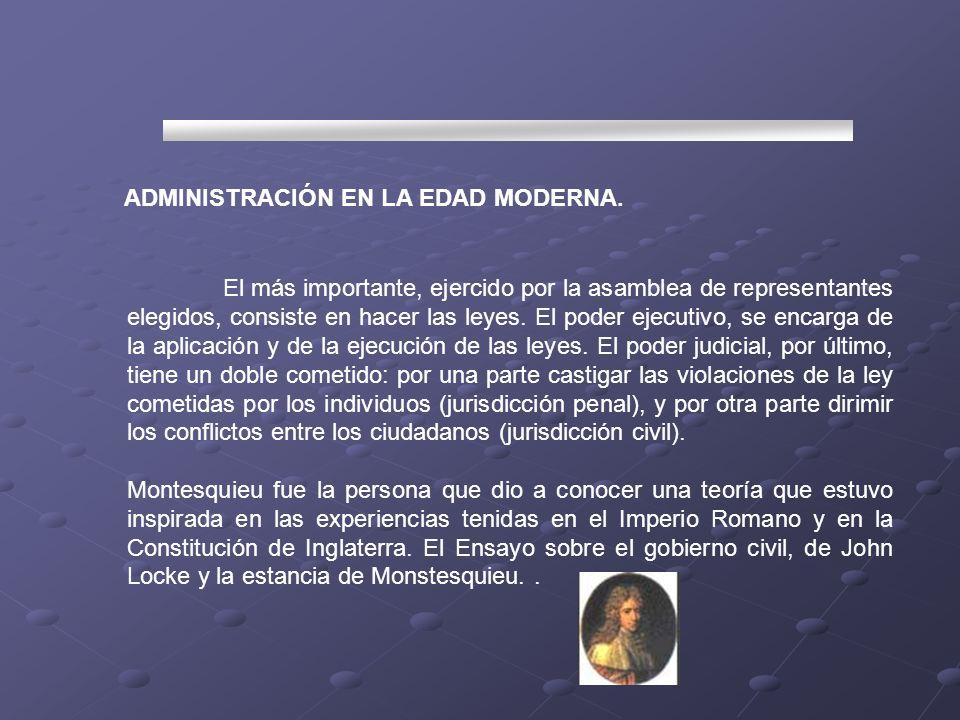 ADMINISTRACIÓN EN LA EDAD MODERNA.