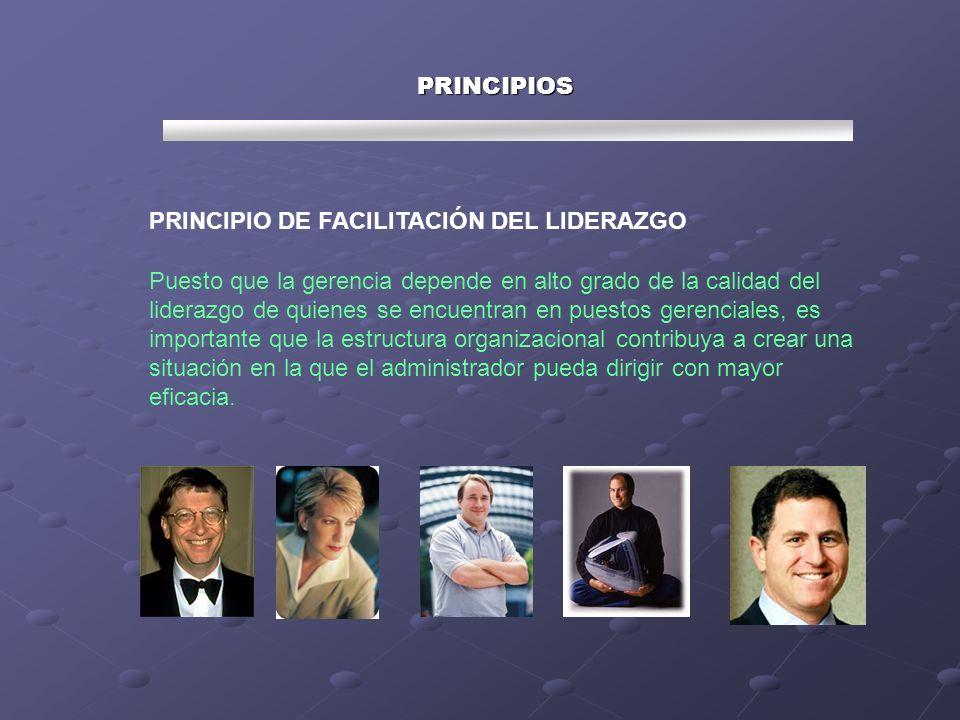 PRINCIPIOS PRINCIPIO DE FACILITACIÓN DEL LIDERAZGO.