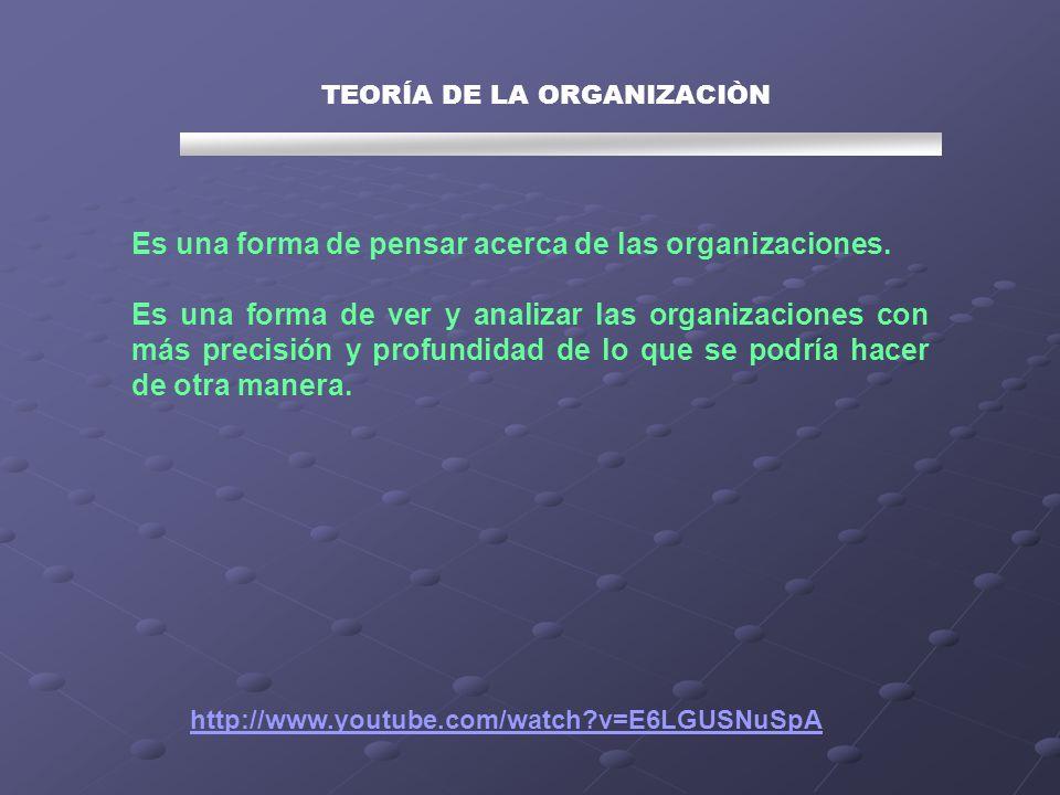 TEORÍA DE LA ORGANIZACIÒN