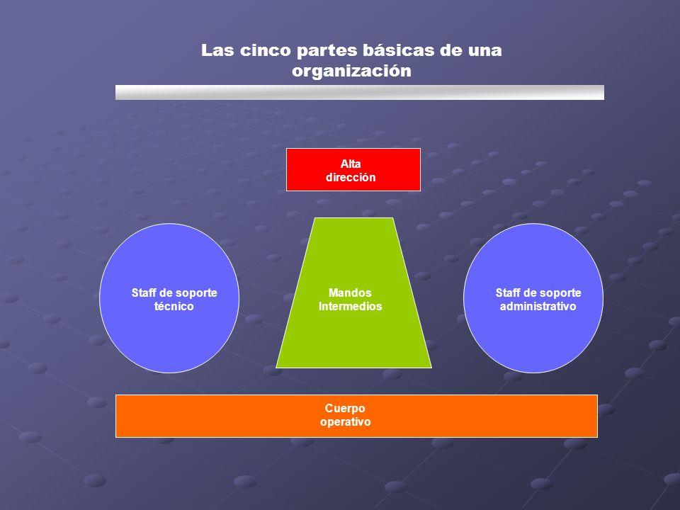 Las cinco partes básicas de una organización