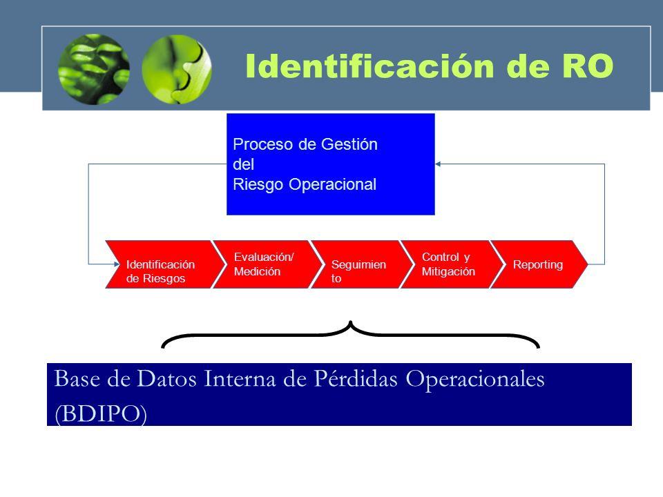 Identificación de RO Proceso de Gestión. del. Riesgo Operacional. Identificación de Riesgos. Evaluación/